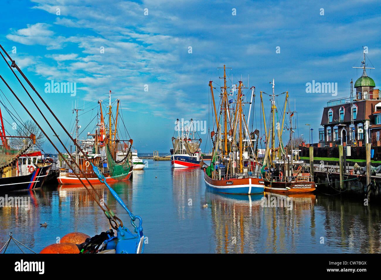 Neuharlingersiel Harbour - Stock Image