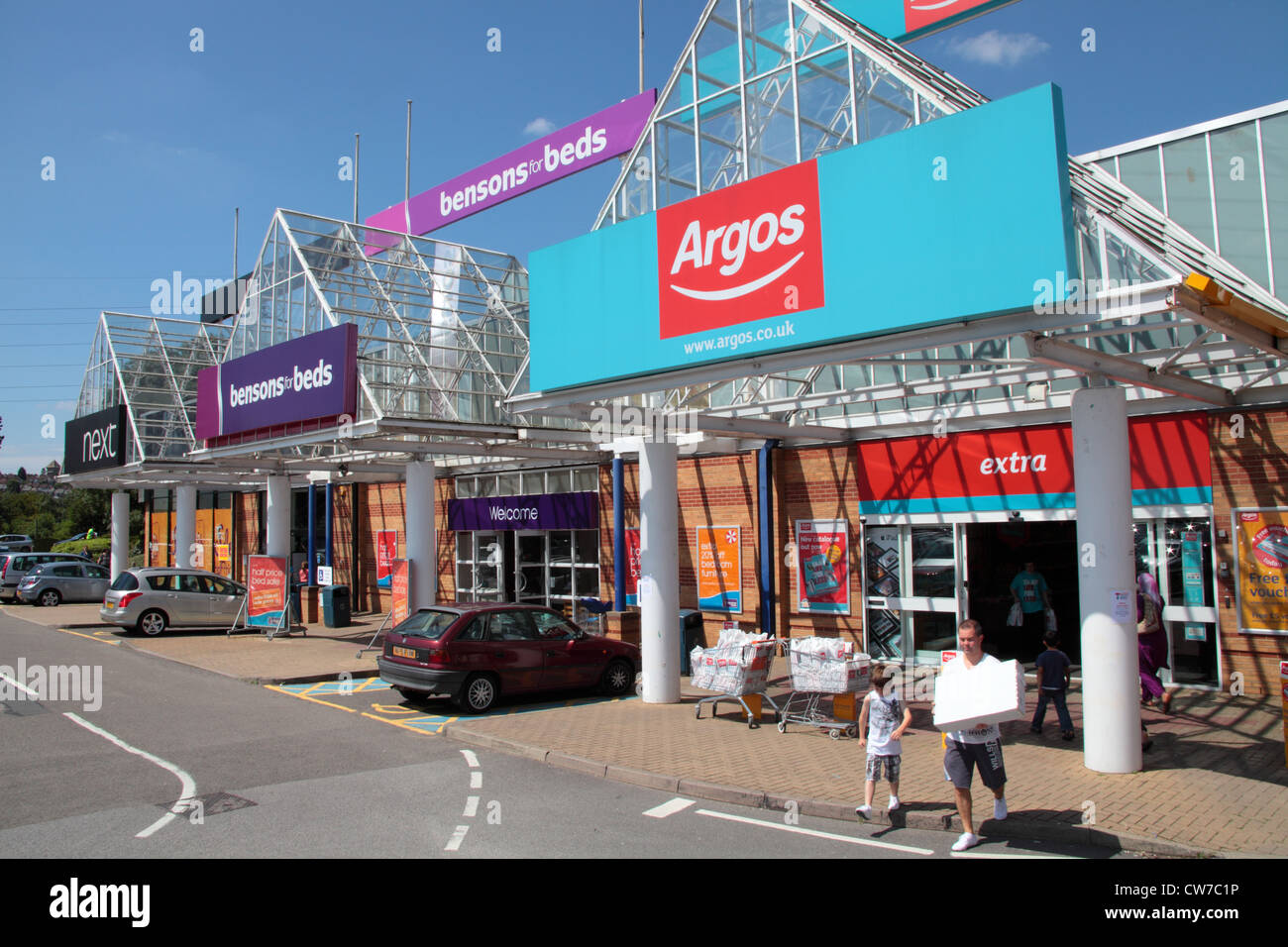 front of argos store stock photos front of argos store. Black Bedroom Furniture Sets. Home Design Ideas