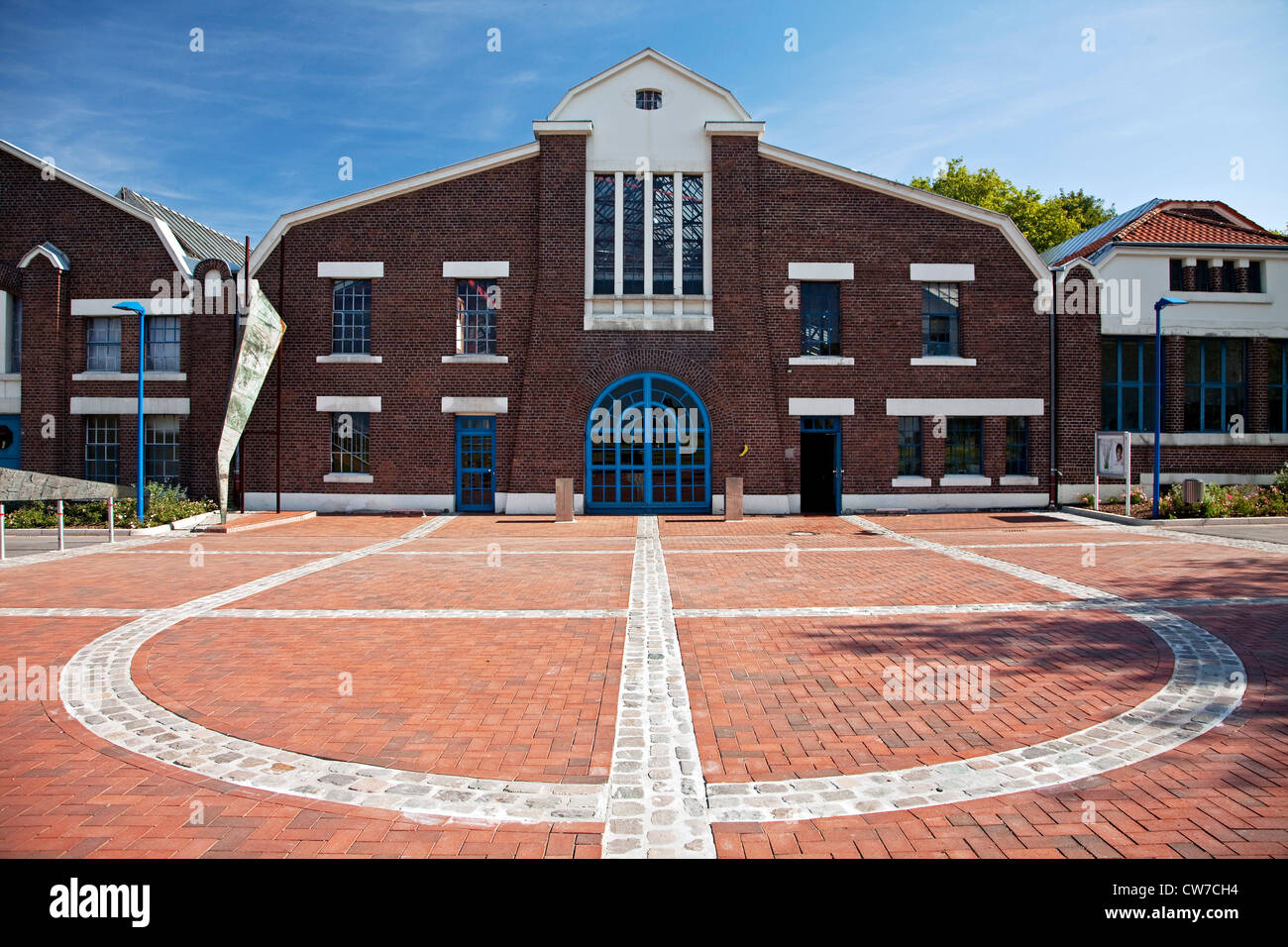 multipurpose hall Flottmann, former industrial building, Germany, North Rhine-Westphalia, Ruhr Area, Herne - Stock Image
