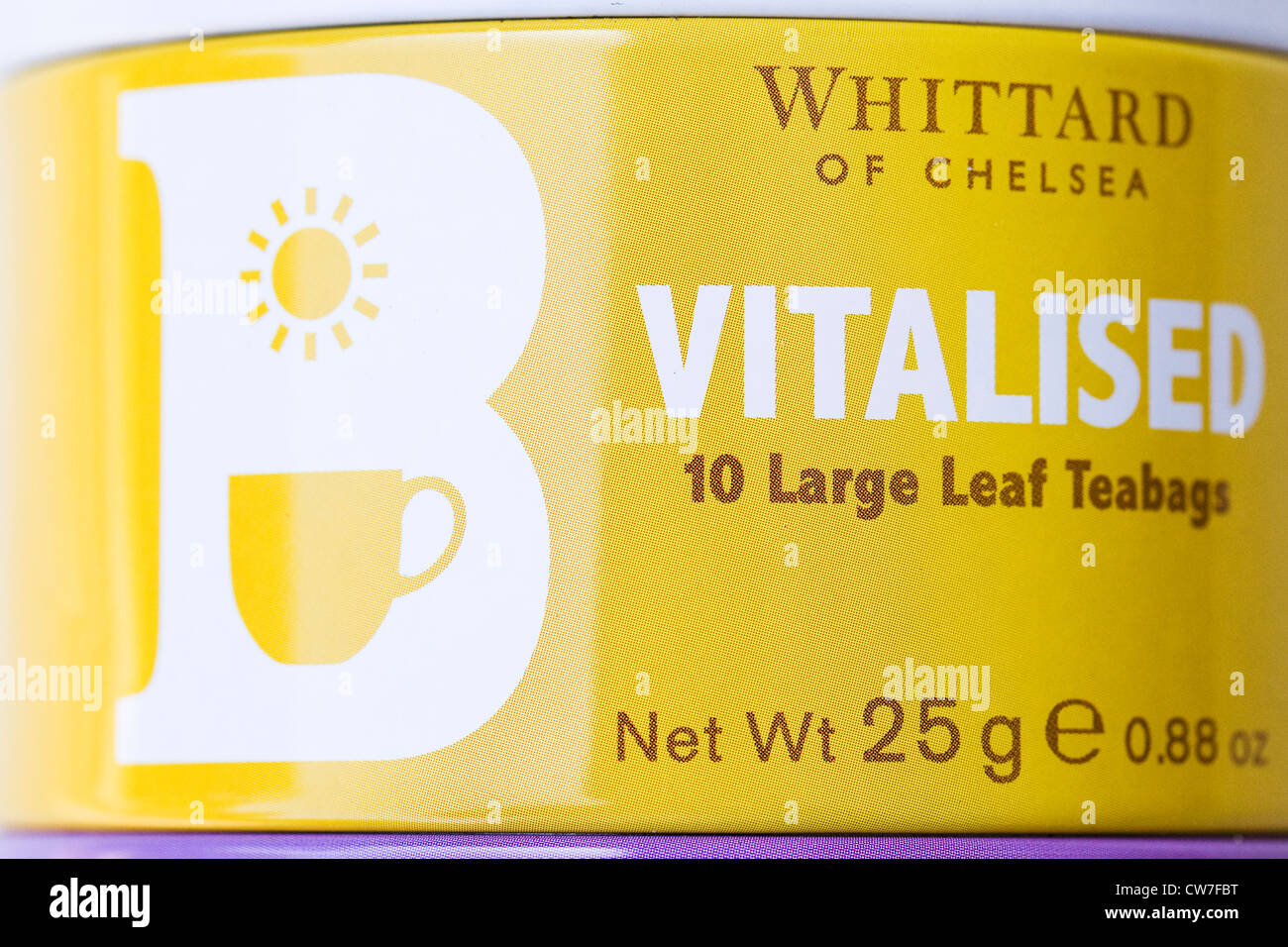 Colourful Whittard tea tins. - Stock Image