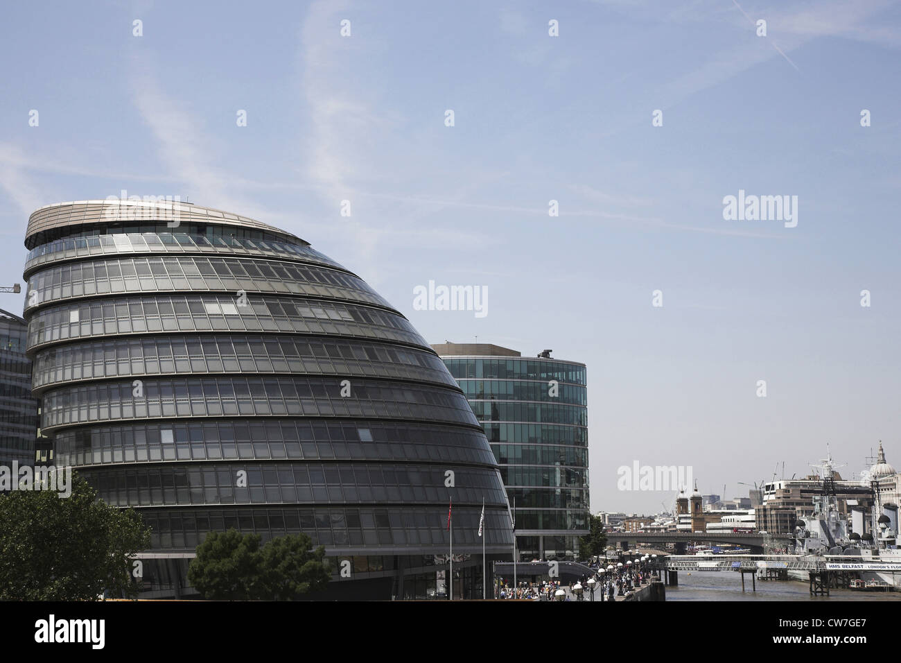 London City Hall, headquarters of the Greater London Authority, the Mayor of London and London Assembly, United - Stock Image