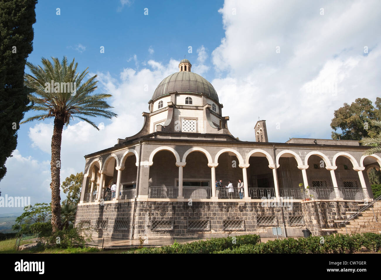 Mount of Beatitudes Church, Israel Stock Photo