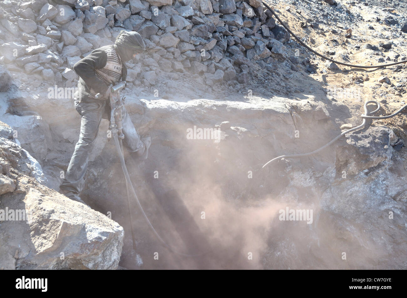 mining of lead sulfide , Morocco Stock Photo
