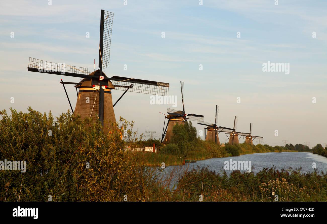wind mills at Kinderdijk, Netherlands - Stock Image