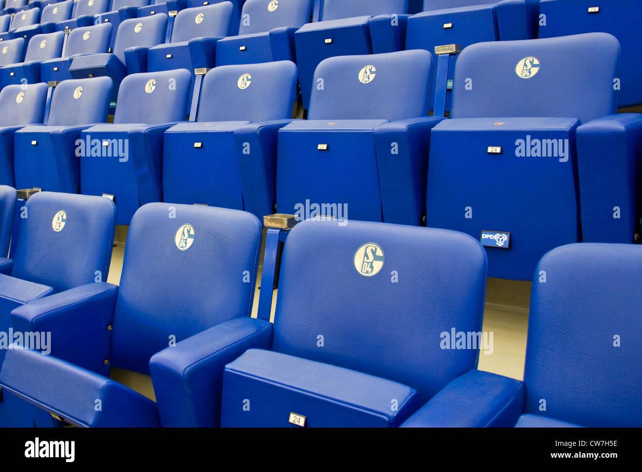 Veltins-Areana; VIP seats, Germany, Ruhr Area, Gelsenkirchen - Stock Image
