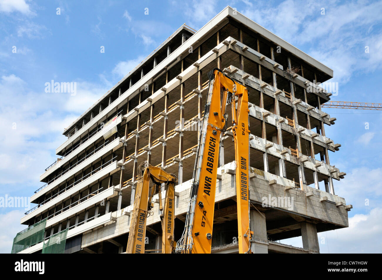 Lufthansa Building (place of business until 2007) being turned into the MaxCologne in the course of renovation, - Stock Image