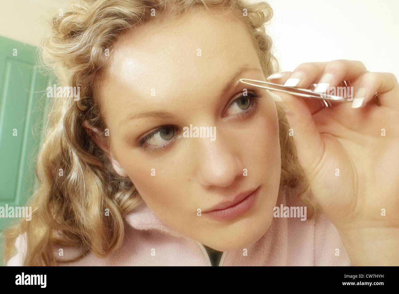 Picking The Eyebrows Stock Photos Picking The Eyebrows Stock
