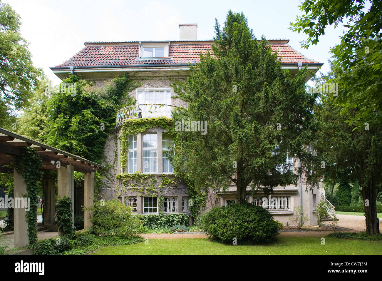 europe, germany, brandenburg, potsdam, villa where josif stalin lived in 1945 in the course of the potsdam conference - Stock Image