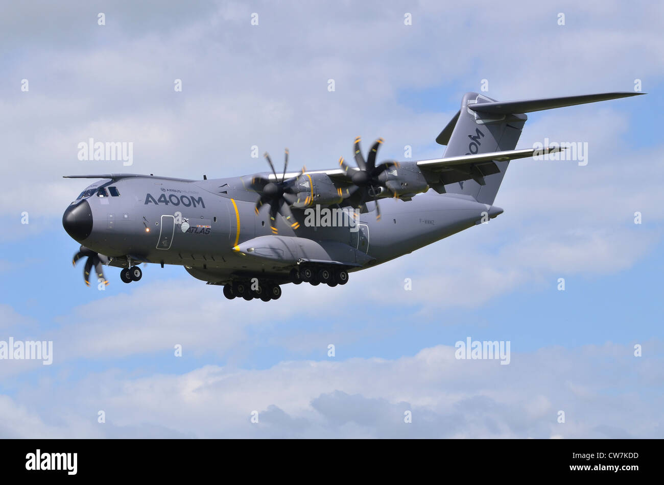 Airbus Military A400M Atlas on approach for landing at RAF Fairford - Stock Image