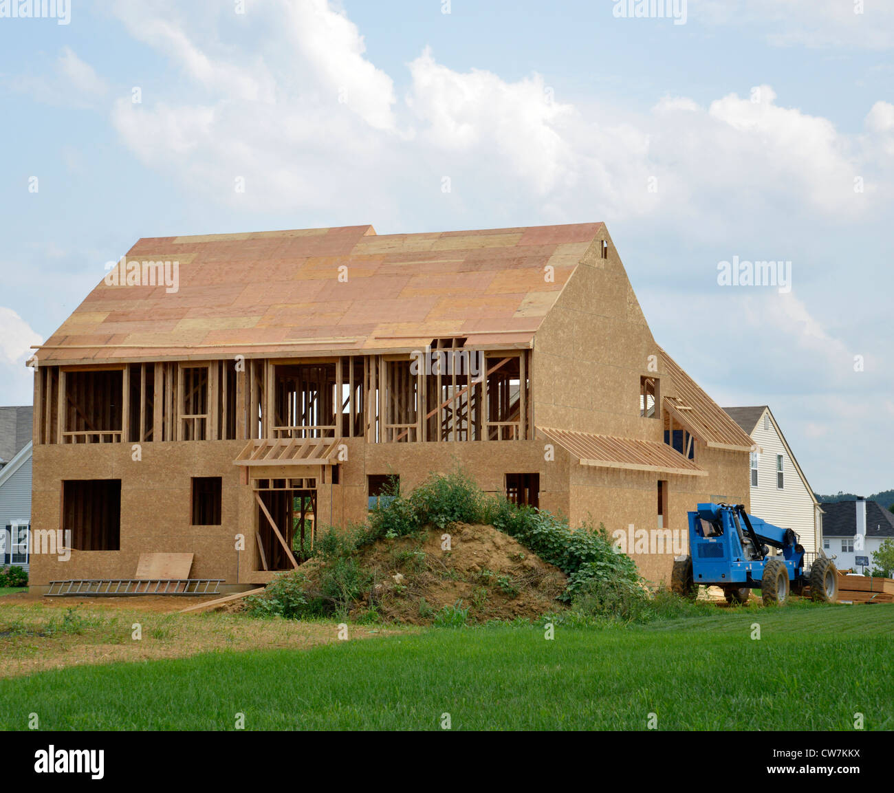 new home under construction - Stock Image