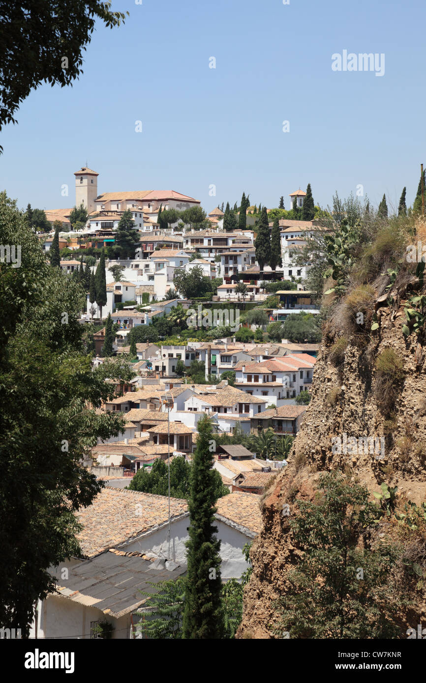 0ld town of Granada, Andalusia Spain - Stock Image