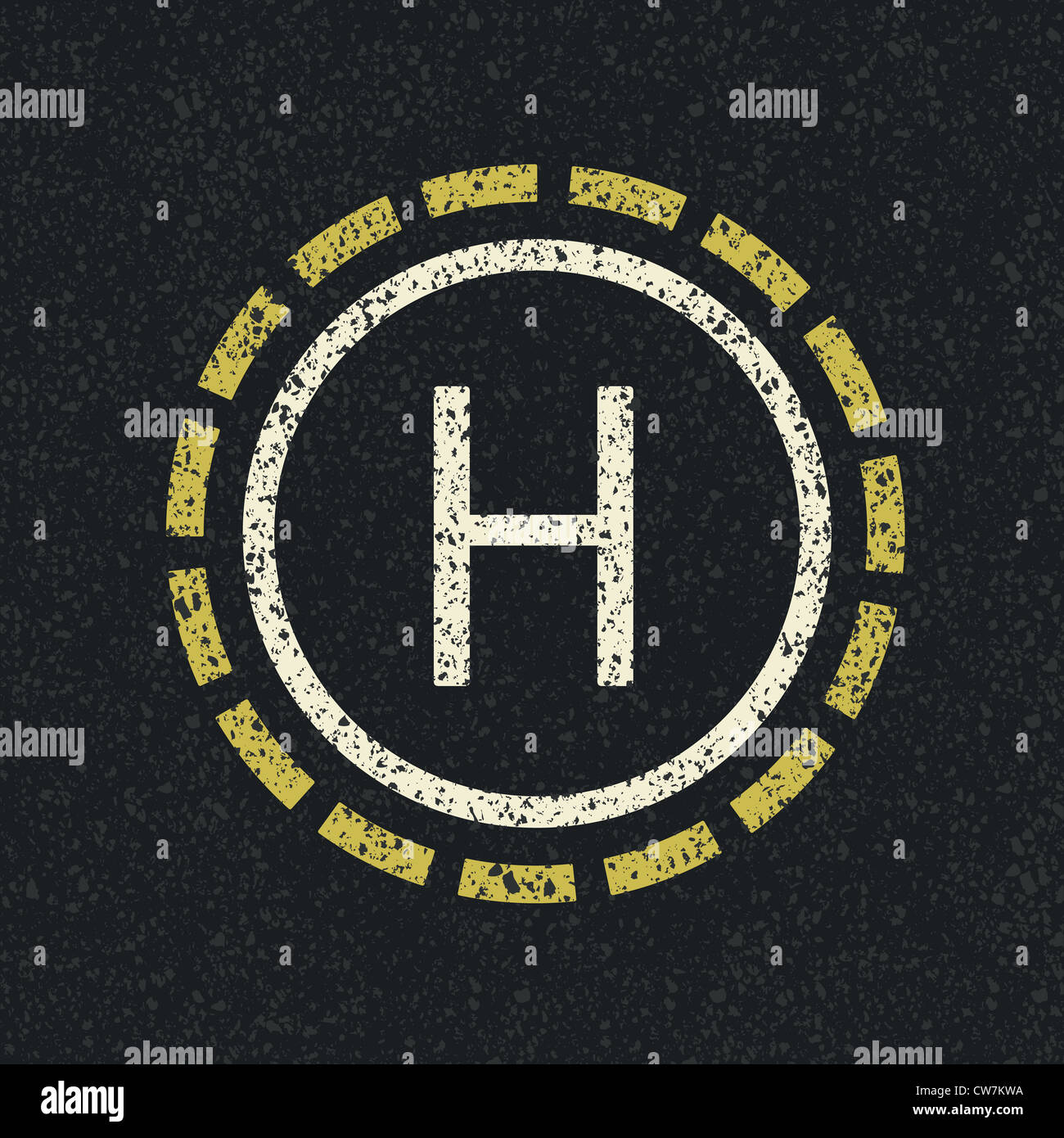 Helicopter landing pad - Stock Image
