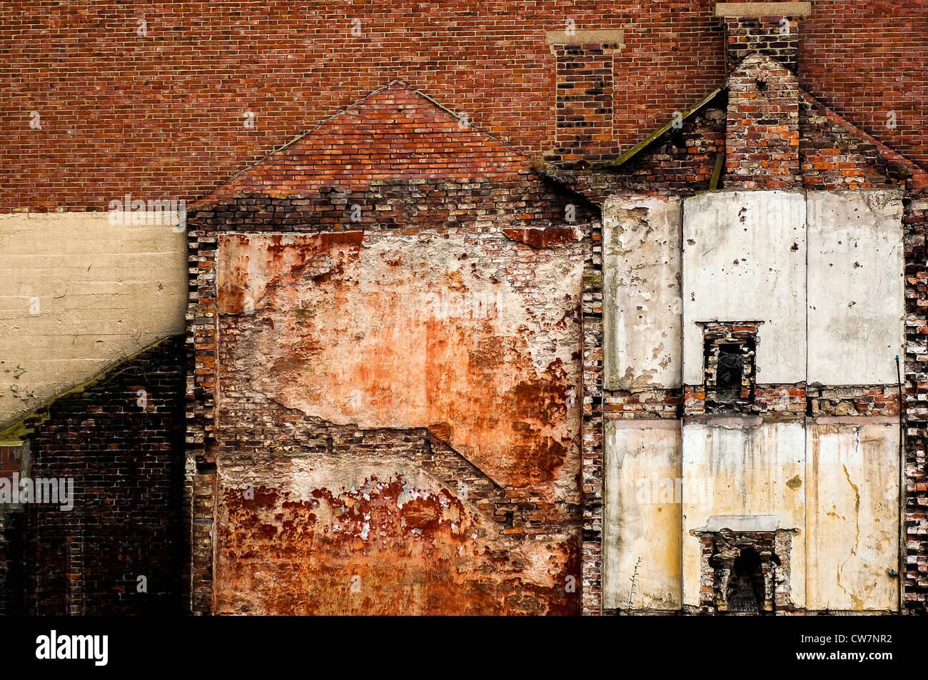 Engulfed house - Stock Image