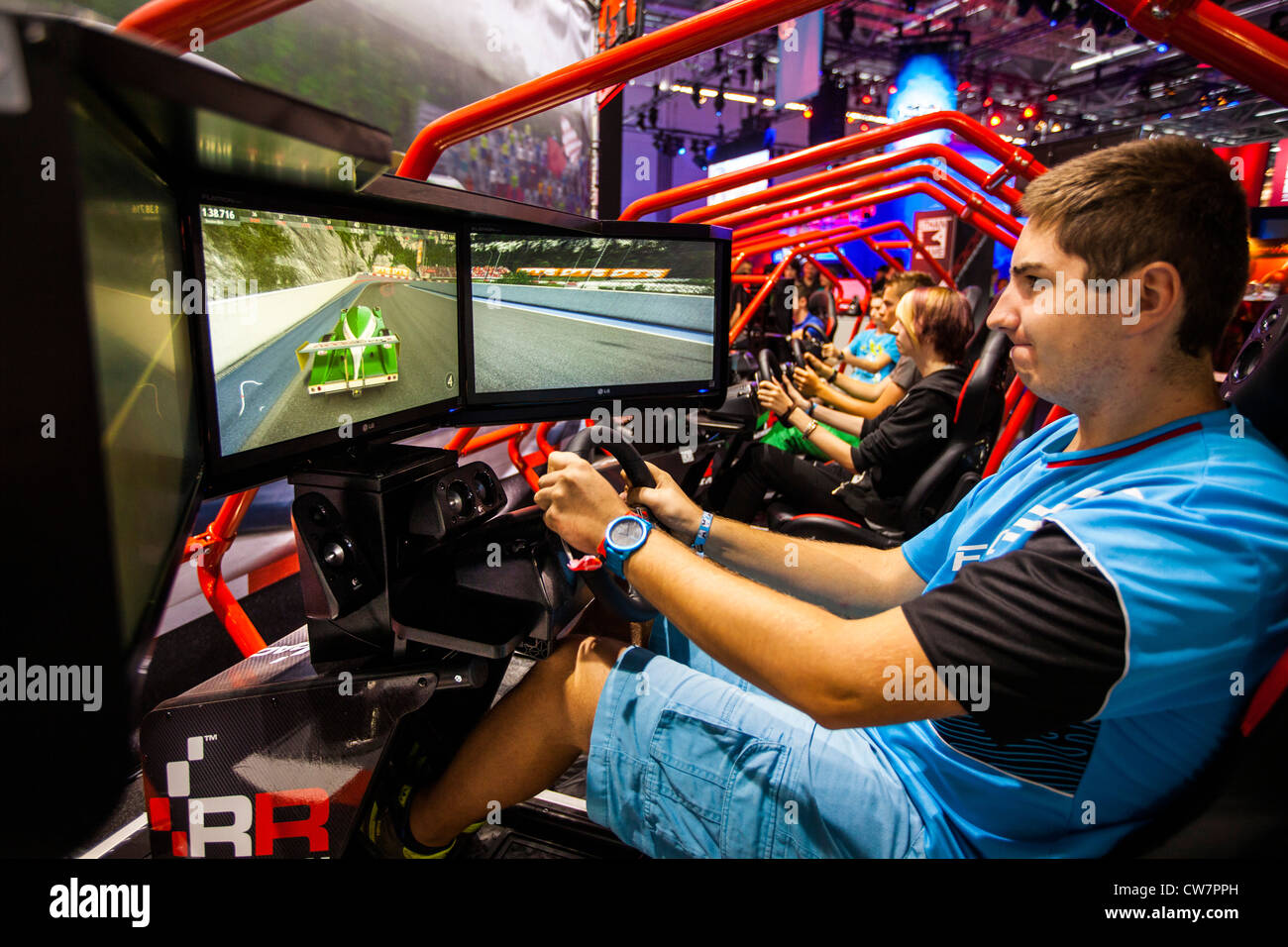 Gamescom, world largest trade show for computer games and Stock