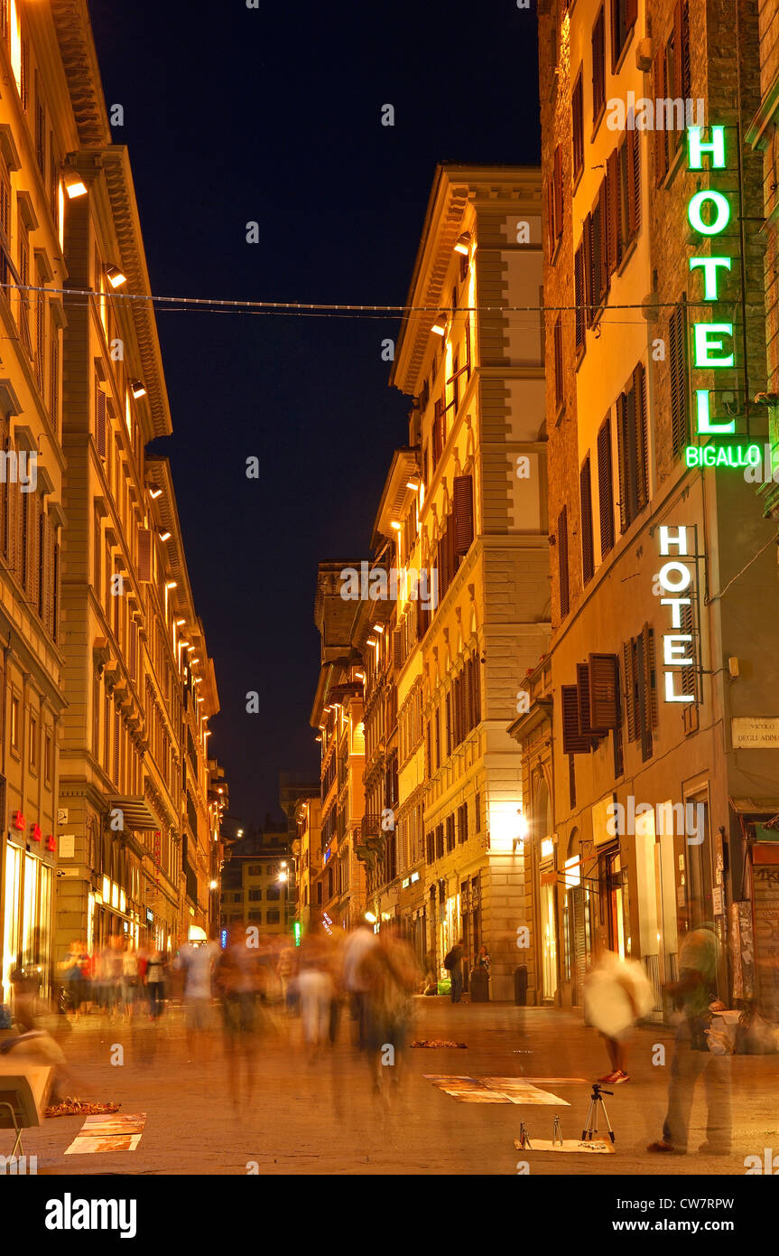 Florence, Old twon at Dusk, Tuscany. Italy. Europe - Stock Image