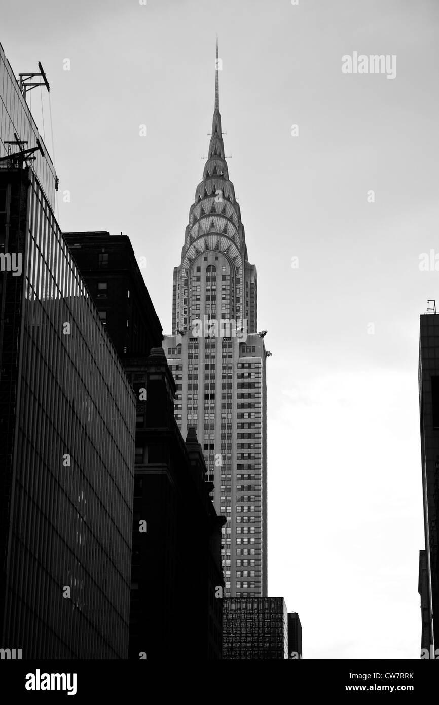 Chrysler Building in Manhattan, New York - Stock Image