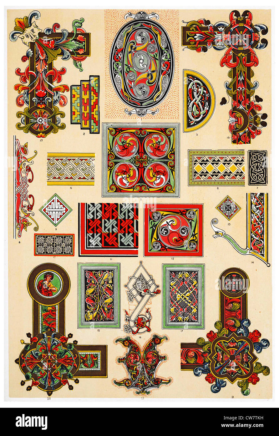 CELTIC ORNAMENTS - Stock Image