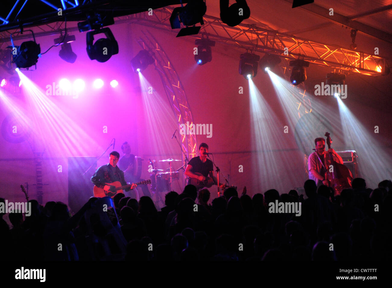 Seth Lakeman on stage at the Fairbridge Festival of World and Folk Music in Western Australia - Stock Image