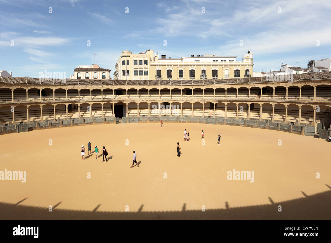 The oldest spanish bullring in Ronda, Andalusia Spain - Stock Image