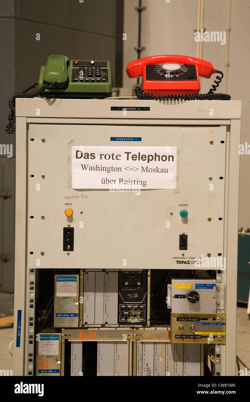 Europe, Germany, Bavaria, Raisting, satellite communications, international communications - Stock Image