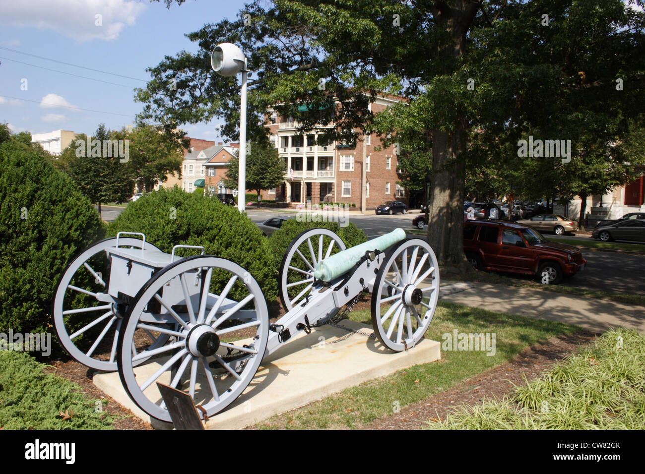 Cannon from the American Civil War at the Virginia Historical Society in Richmond, Virginia, USA - Stock Image