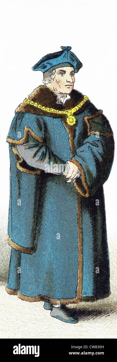 Chancellor Sir Thomas More was an English lawyer, social philosopher, author, and statesman. - Stock Image