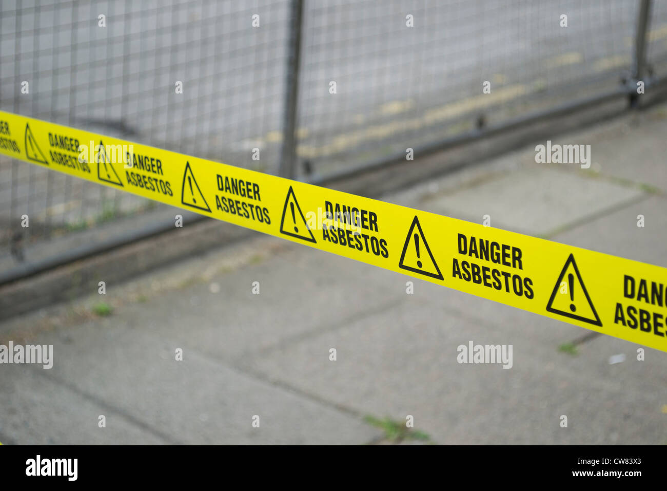 Asbestos precautions. Surrey, England, UK - Stock Image