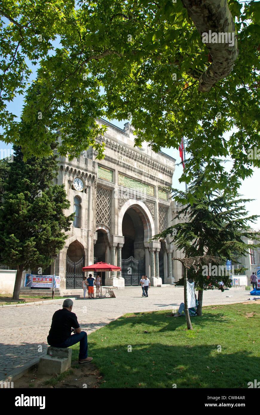ISTANBUL, TURKEY. The main entrance to Istanbul University on Beyazit Meydani. 2012. - Stock Image