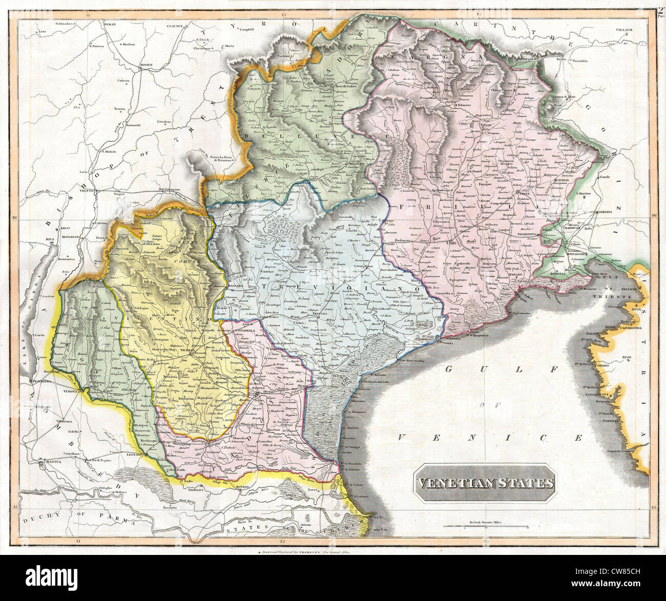 1814 thomson map of the venetian states venice italy stock photo 1814 thomson map of the venetian states venice italy gumiabroncs Gallery
