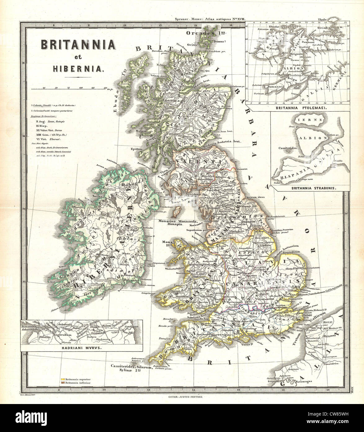 Map Of Ireland England.Old Map England Ireland Stock Photos Old Map England Ireland Stock
