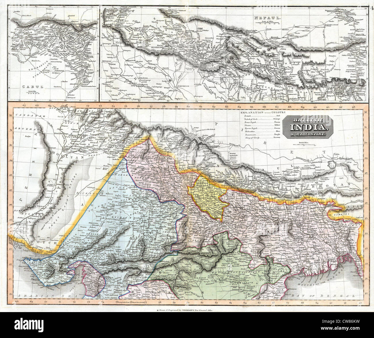 1814 thomson map of northern india and nepal stock photo 49968013 1814 thomson map of northern india and nepal gumiabroncs Image collections