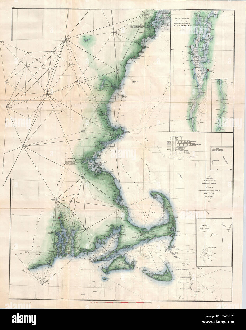 1873 Us Coast Survey Chart Of Map Of Cape Cod Nantucket - Cape-cod-on-us-map