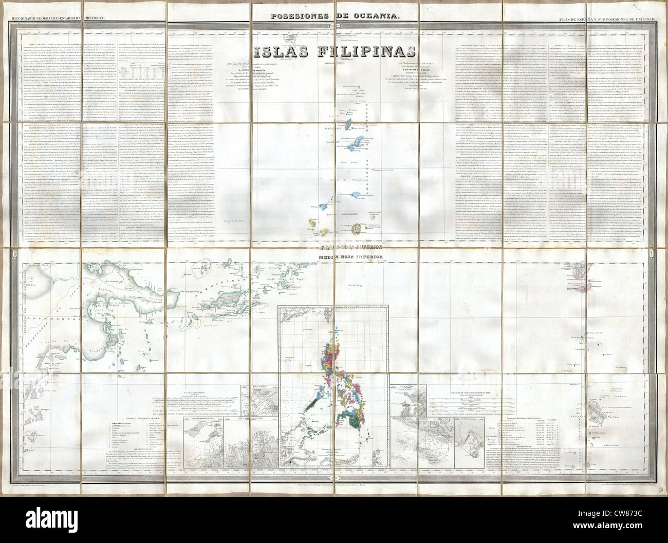 1852 Coello - Morata Case Map of the Philippines No. 3 Stock Photo