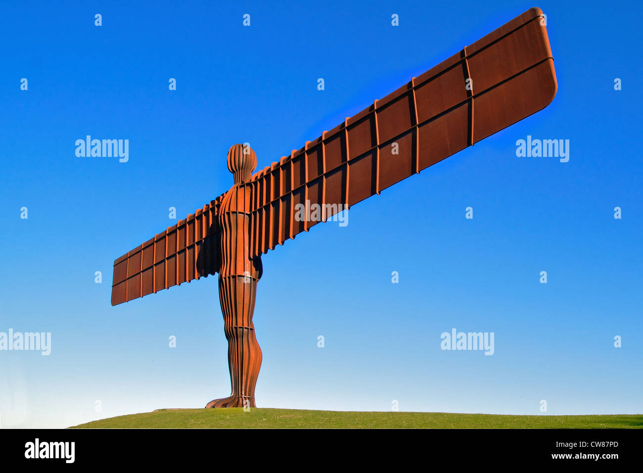 Angel of the North statue in Gateshead, North East England - Stock Image