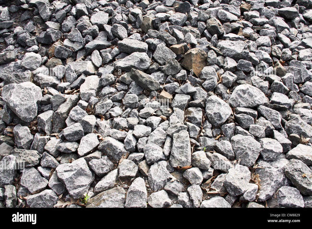 Broken stones pattern Stock Photo