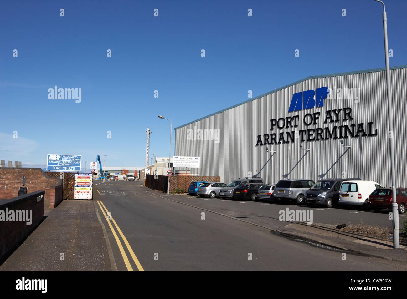 Port Of Ayr Arran Terminal South Ayrshire Scotland Uk United