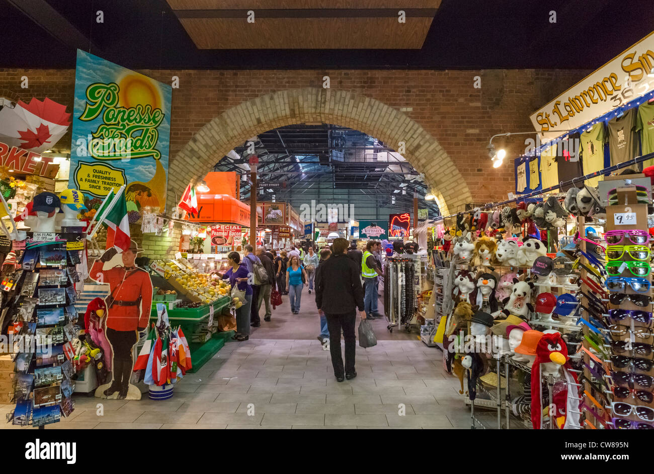 Interior of St Lawrence Market, Toronto, Ontario, Canada - Stock Image