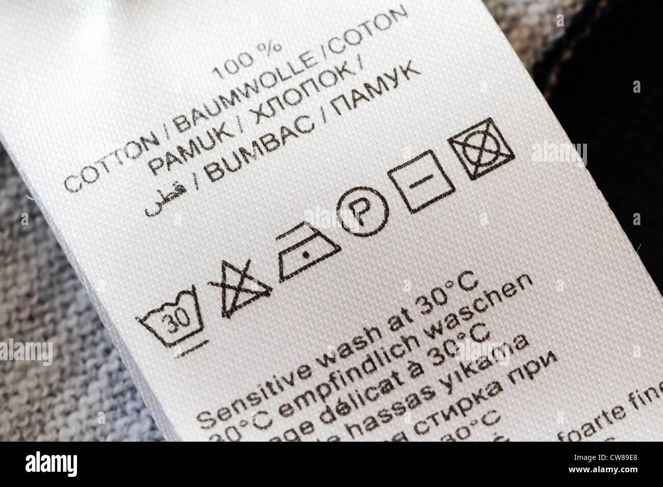 Laundry Clothing Symbol Label Stock Photos Laundry Clothing Symbol