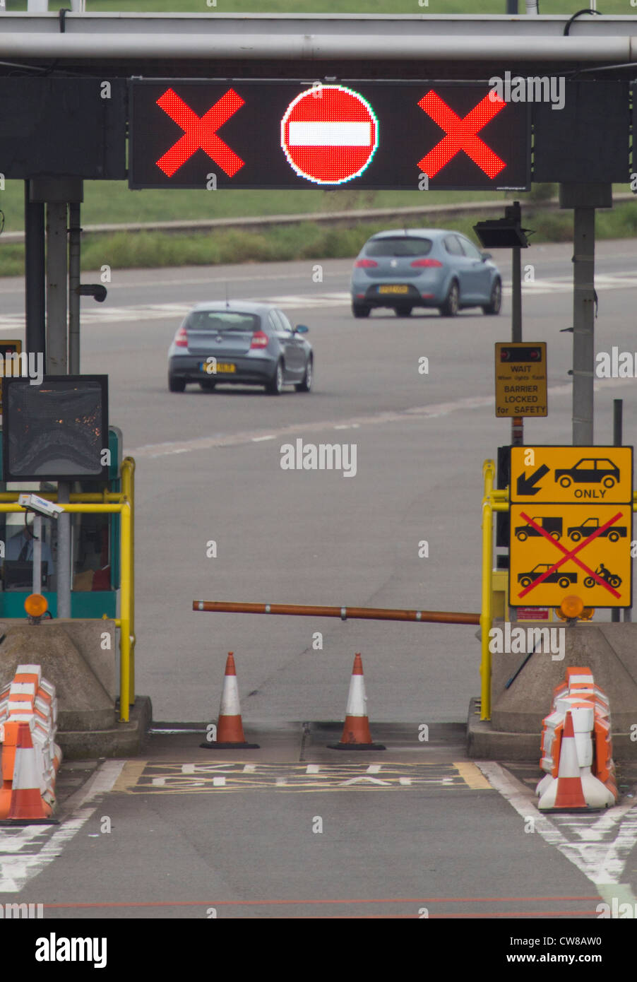 The Tolls on the Welsh side of the Second Severn Crossing. - Stock Image