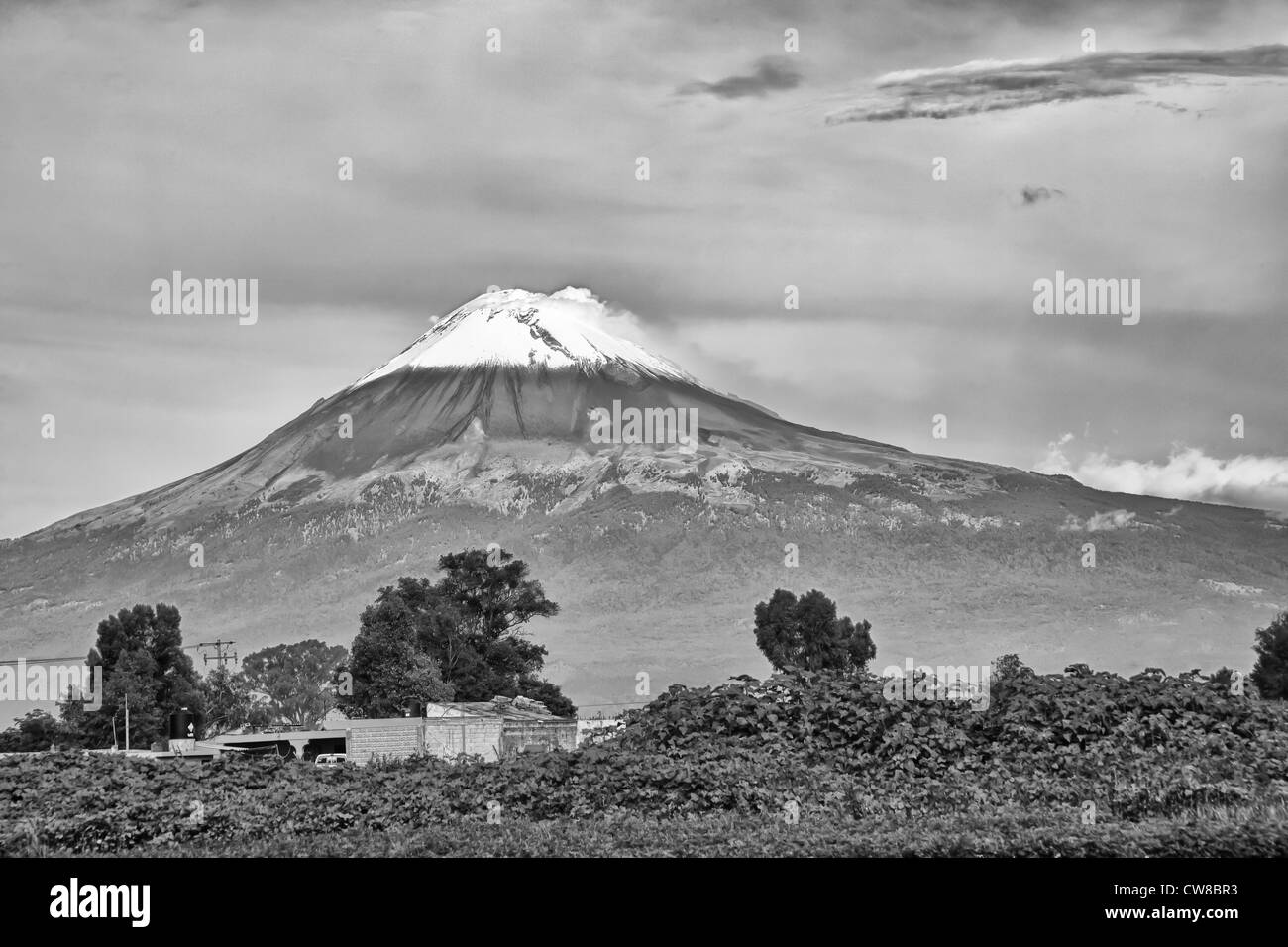 Mt. Popocatepetl Volcano in Mexico - Stock Image