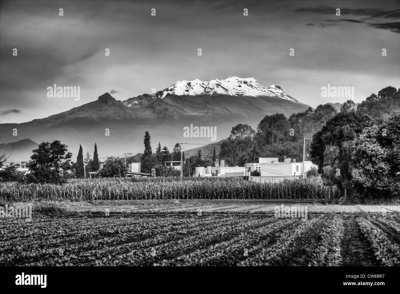 Mt. Iztaccihuatl Volcano in Mexico - Stock Image
