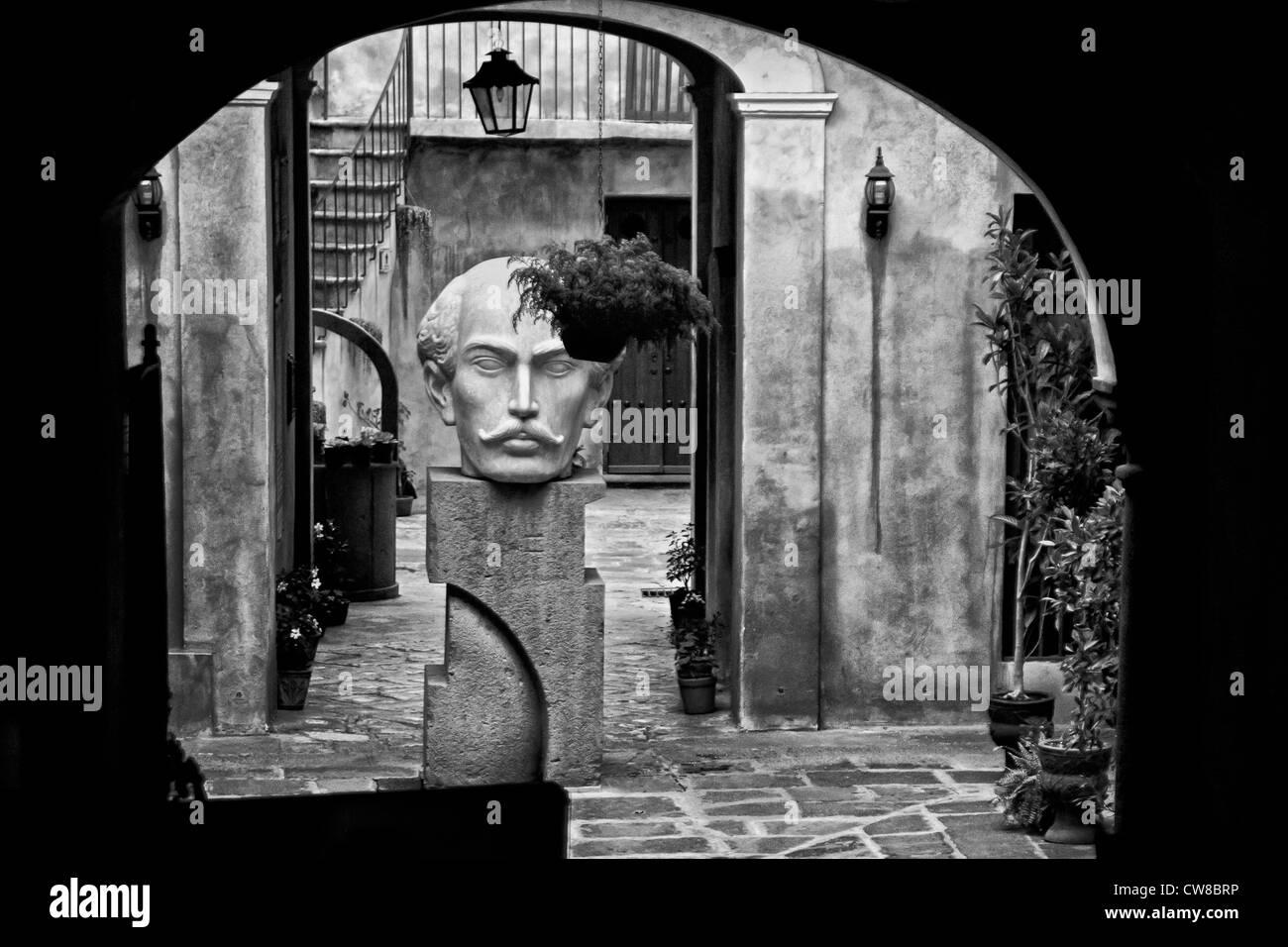 Statue in Puebla, Mexico - Stock Image