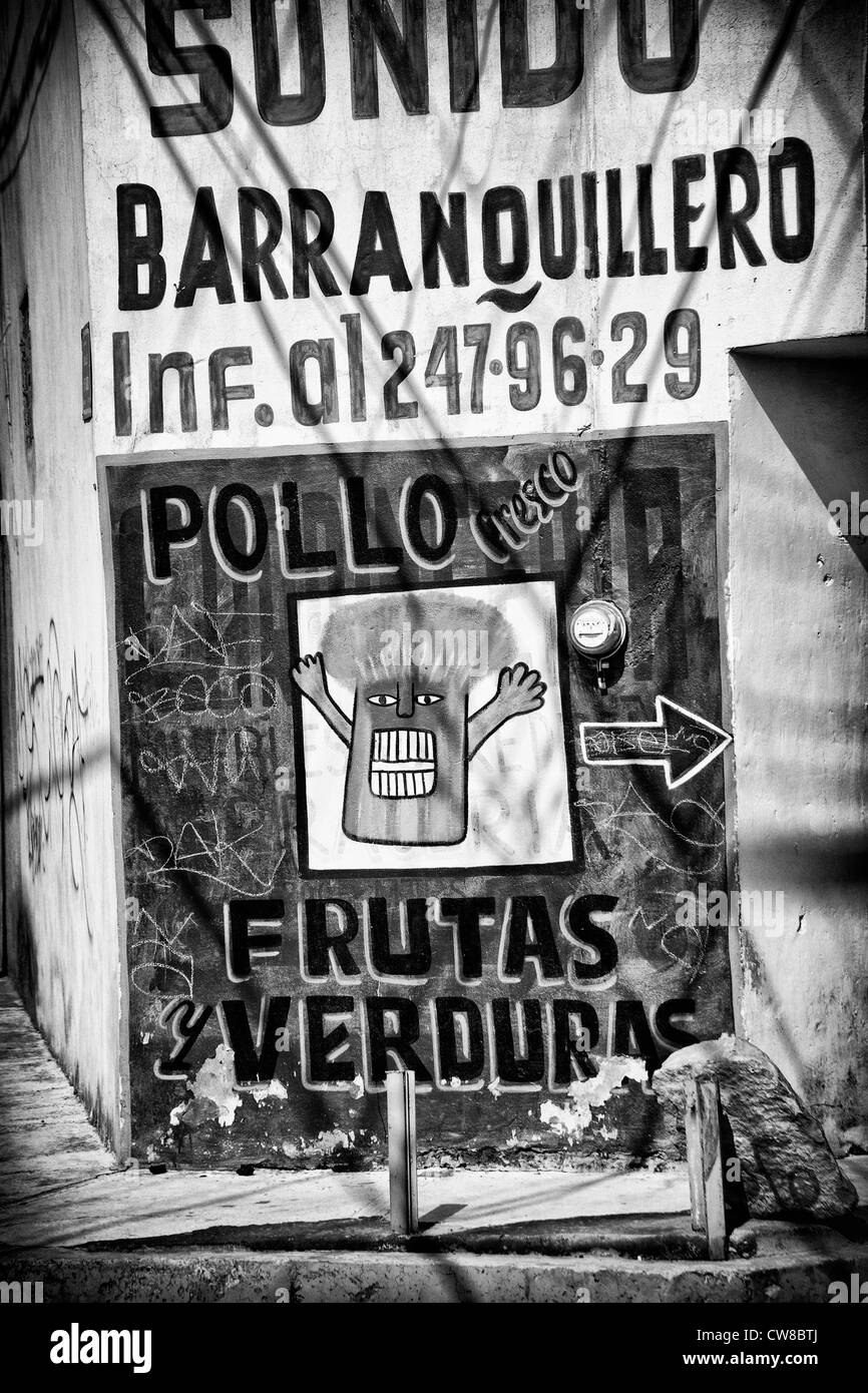 Broccoli market sign in Puebla, Mexico - Stock Image