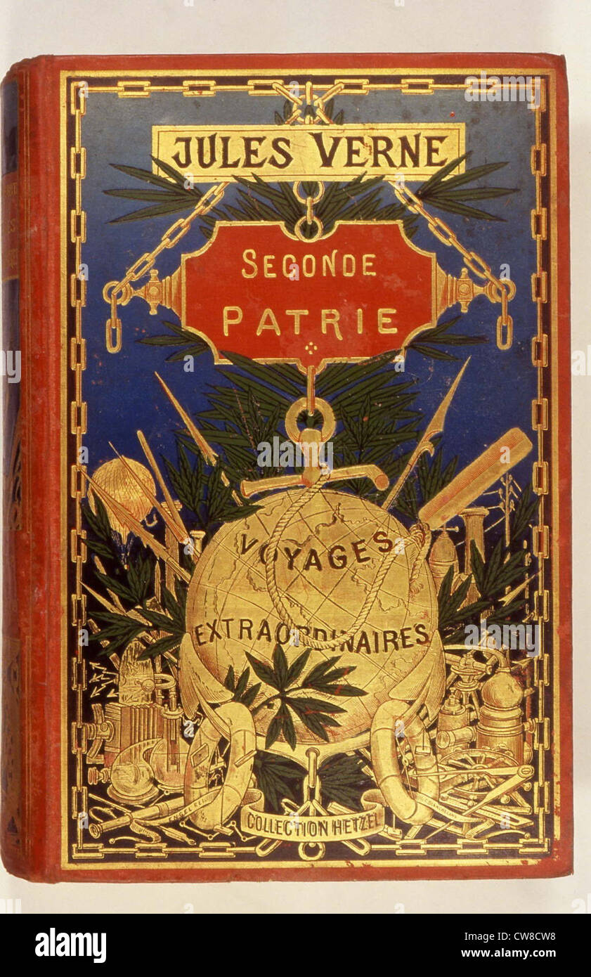 Cover of the book 'Second Fatherland', by Jules Verne - Stock Image