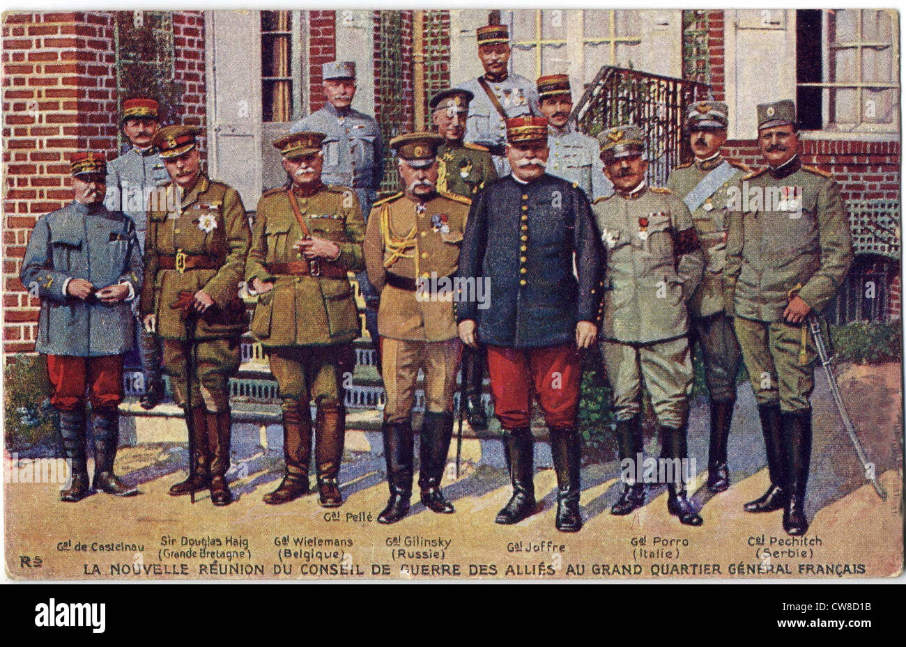 Meeting of the Allies' War Council - Stock Image