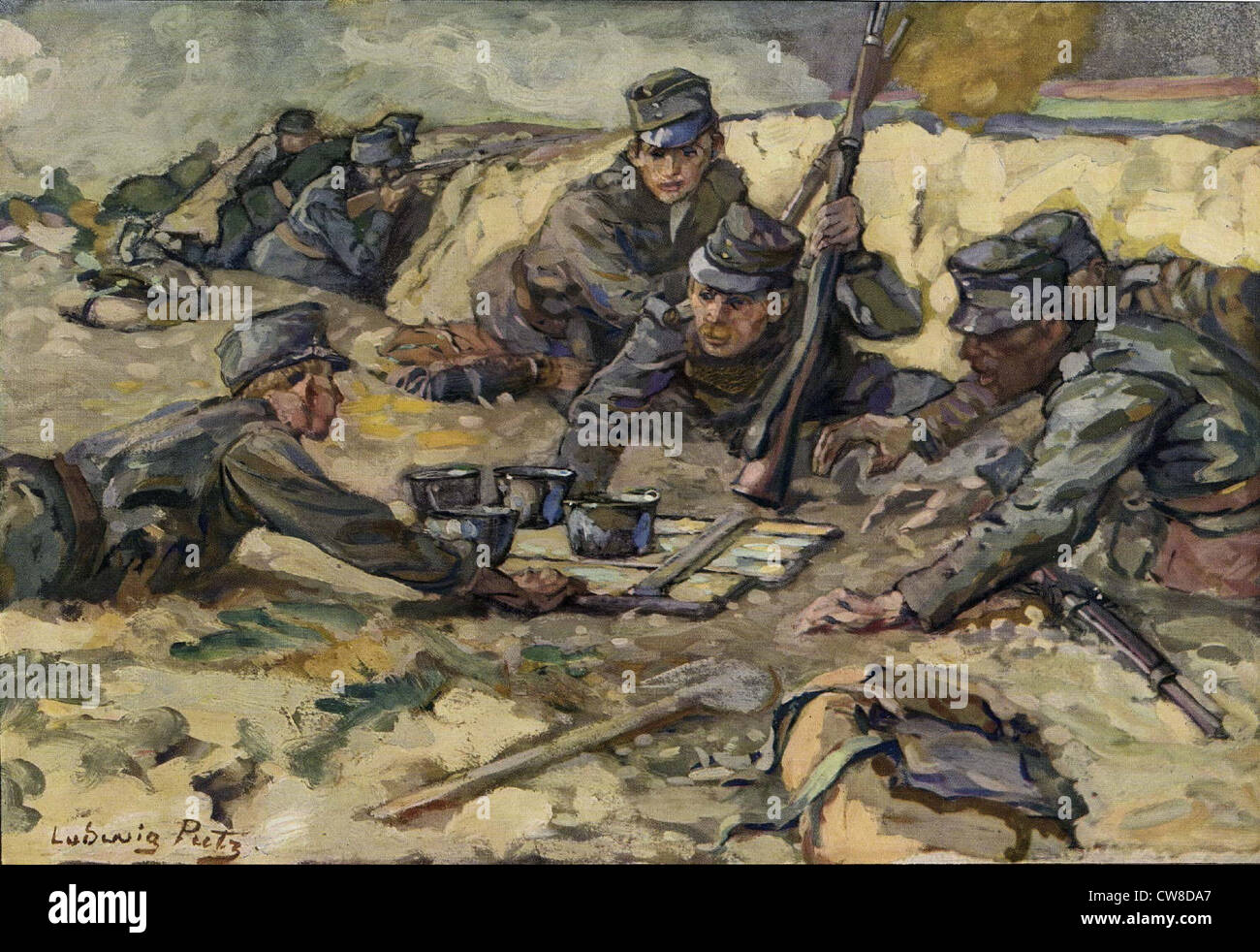A meal on the German Front - Stock Image