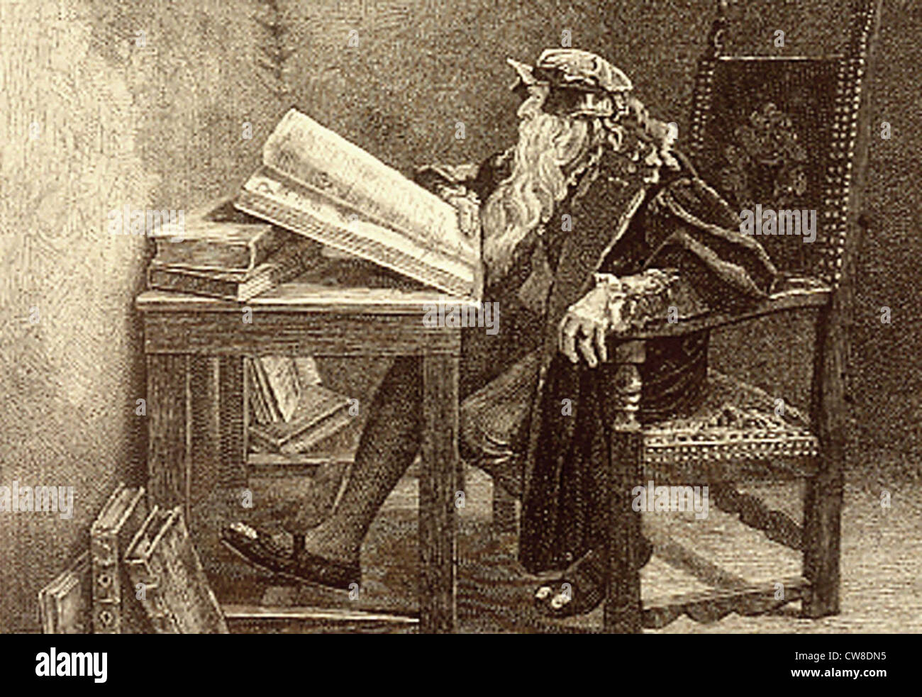Dr Faust, a dramatic comedy by Goethe. Stock Photo
