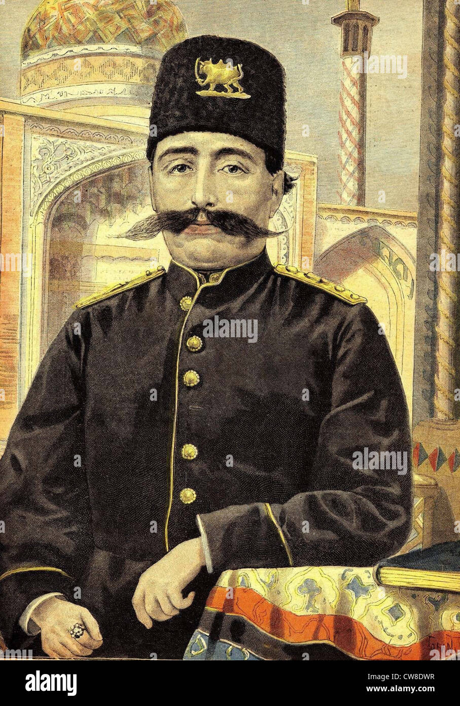 Shah Mozaffar al-Din. - Stock Image