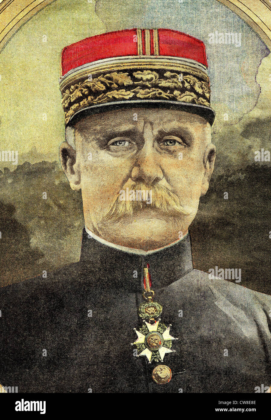 Portrait of general Petain - Stock Image