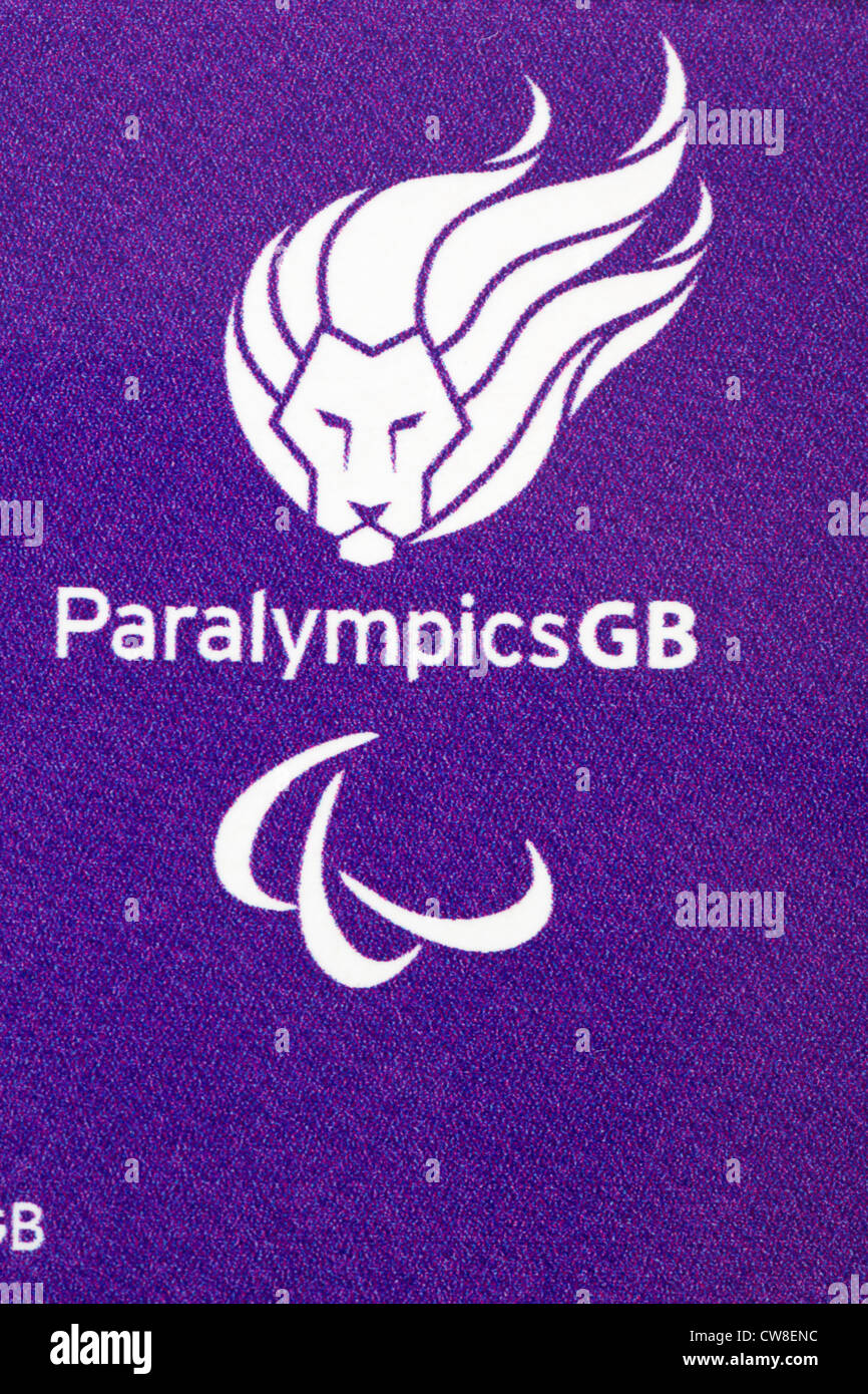 Paralympics GB logo on bar of Cadbury Dairy Milk chocolate given to Olympians for the London 2012 Olympic games - Stock Image